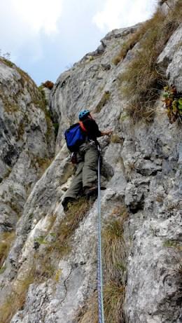 traseu alpinism Diedrul Corbilor, Masivul Postavarul