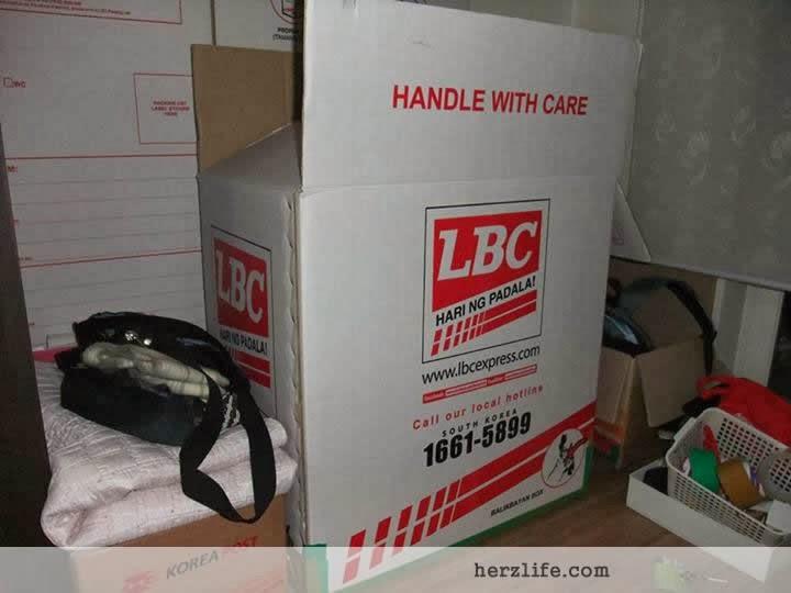Sending Balikbayan Box LBC Korea to Philippines