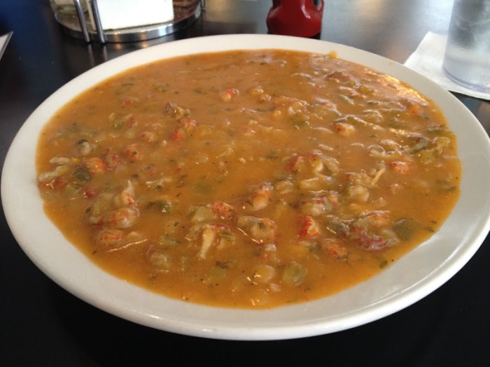 Crawfish etouffee from Liuzza by the Track