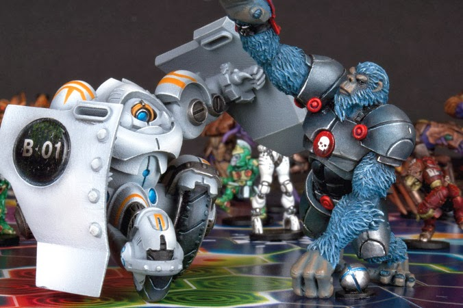 Mantic Games, Dreadball, barricade, alpha simian, Juegos de Especialista, blood bowl juegos de mesa, Zz'or, ludwig, Robots, judwan, tronteck, marauders, nameless, forge fathers, Giants, Crying Grumpies