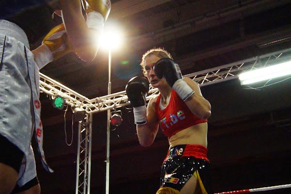 Delfine Persoon, boksgala Zwevezele 11 november 2013
