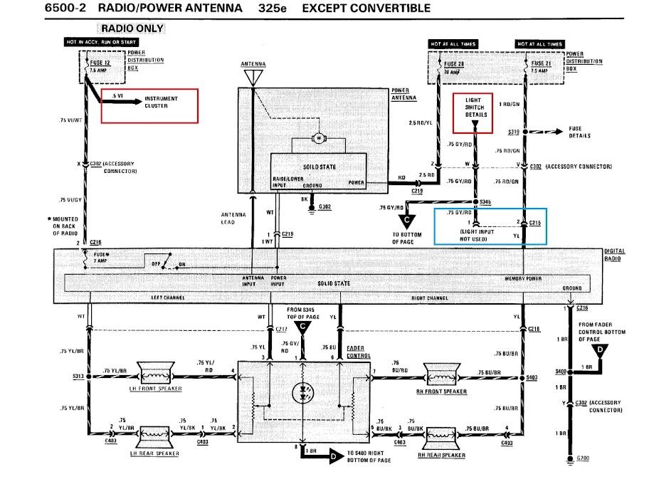 bmw e30 radio wiring diagram - dolgular, Wiring diagram