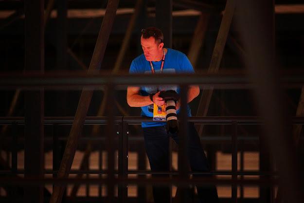 fotograaf op het dak