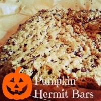 Pumpkin Hermit Bars