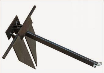 Anchor For Sand Type /'Danforth/' Steel Galvanized 4//6//8KG