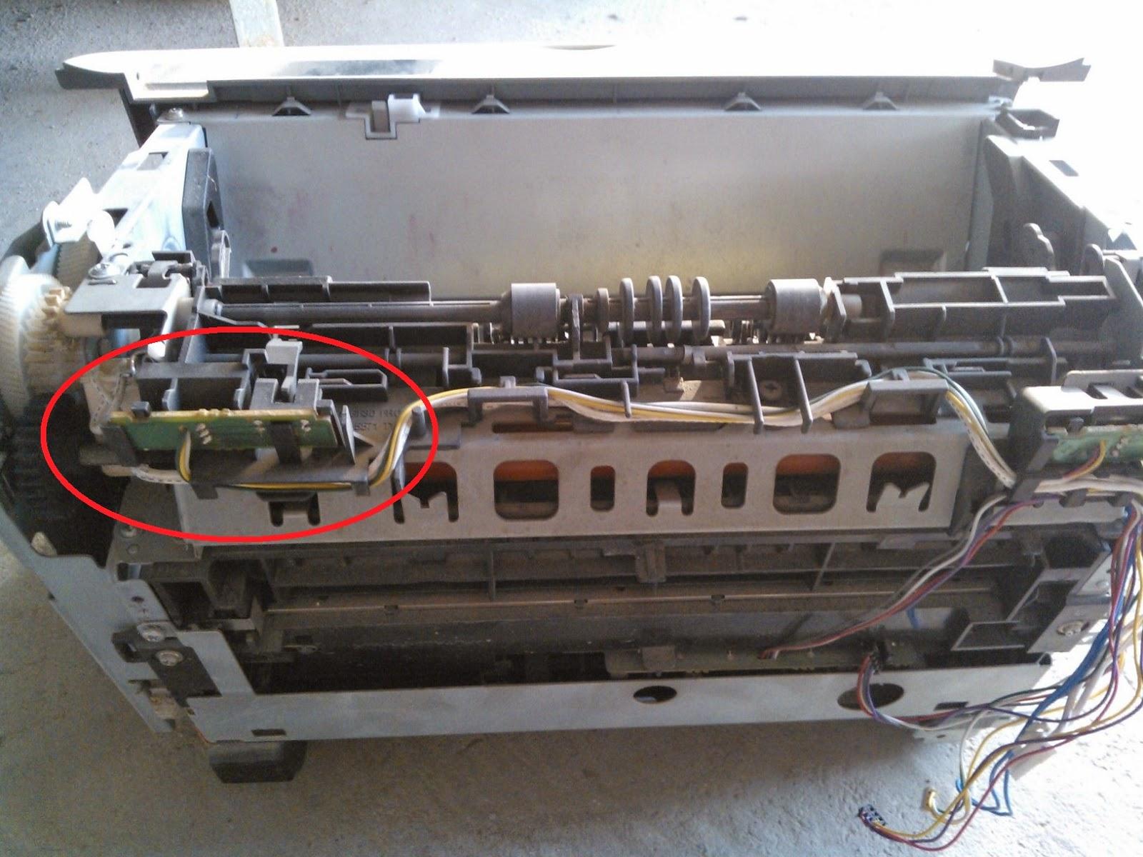 máy in canon 2900 lỗi sensor ra giấy