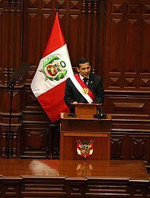 Peruvian President Ollanta Moisés Humala Tasso