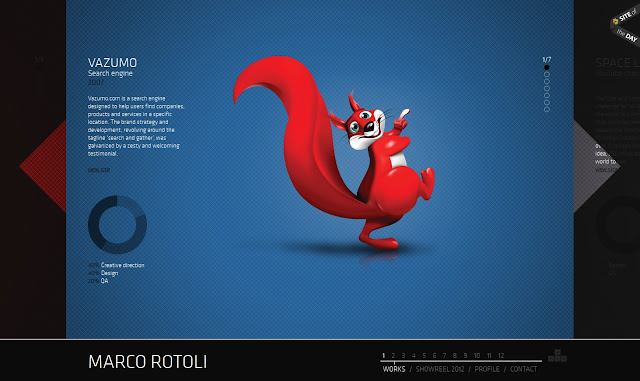 *UI界面非常完善的個人作品網:Marco Rotoli Web Site 1