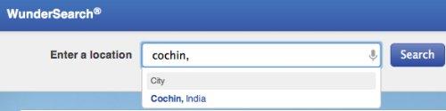 Cochin weather