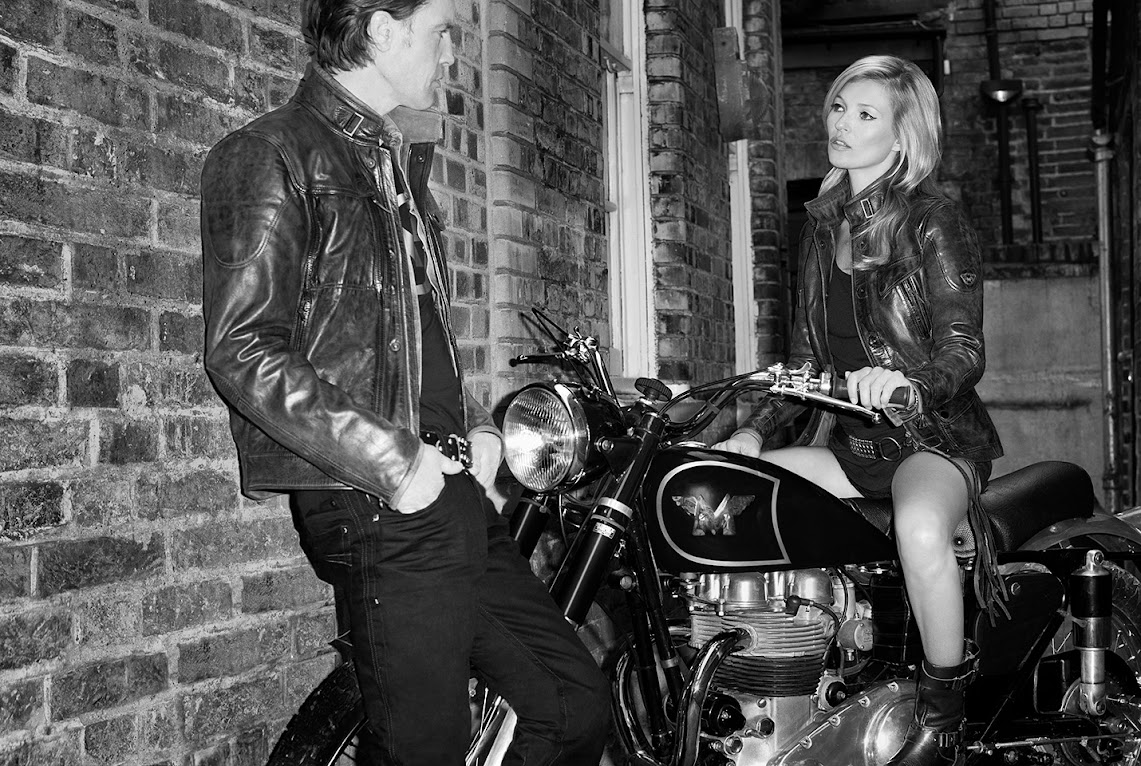 *英國摩托車Matchless秋冬形象照:邀請英國名模Kate Moss在狂野呈現! 2