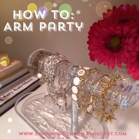 How To Arm Party www.shannongillilan.blogspot.com