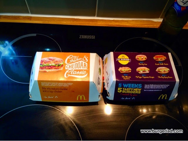McDonald's Chicken and Cheddar Classic