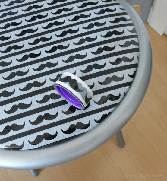 Decorar una silla con washi tape