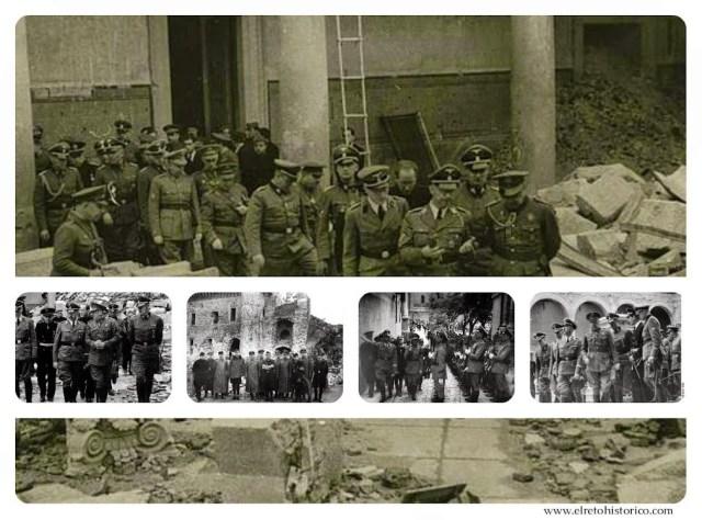 Escenas de la visita de Himmler a Toledo.