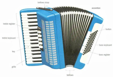 Traditionele muziekinstrumentenaccordeon