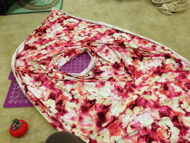 Turn your fabric right sides out.