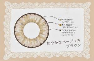 パールフラン 武田静加(しぃちゃん) カラコン パールフラン バイ シェリエ ブラウン両目セット?画像2