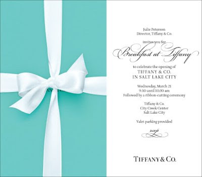 My coveted invitation to Breakfast at Tiffany