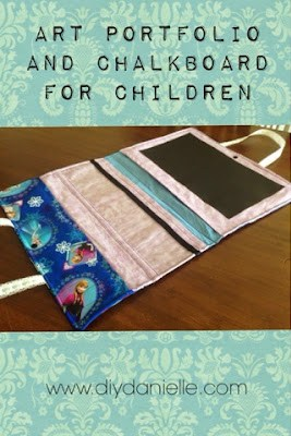 How to make an art portfolio and chalkboard for children. These make great gifts!