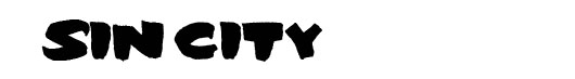 Sin City logo font