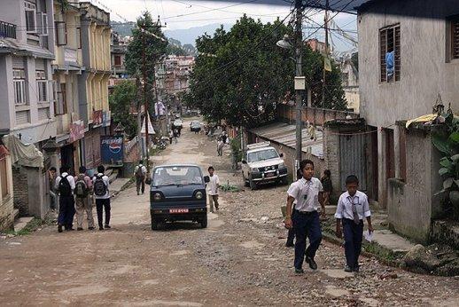 potholes Kathmandu streets