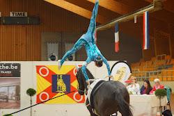 Lauren Vanlerberghe freestyle voltige Moorsele 2014