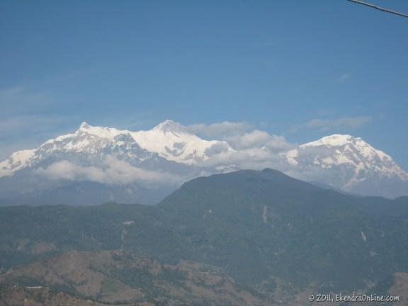 Cool himalayas - cloudy machhapuchhre