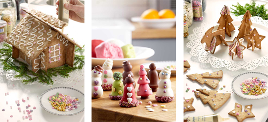 Decoración de Navidad gourmet.