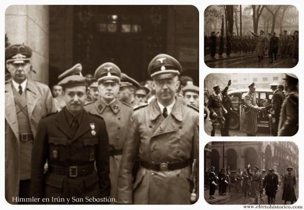 Himmler en su visita a diversas poblaciones de Euskadi