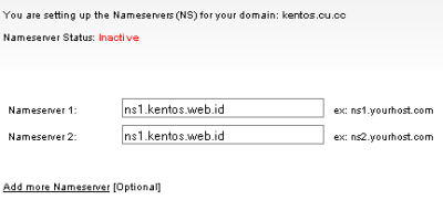 Cara Setting Nameserver Domain Gratis CU.CC