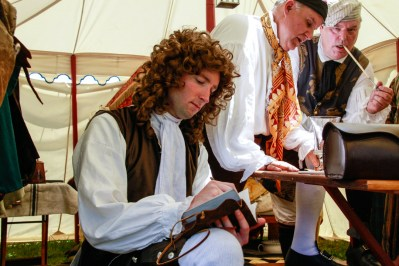 John Fontaine writing in his diary