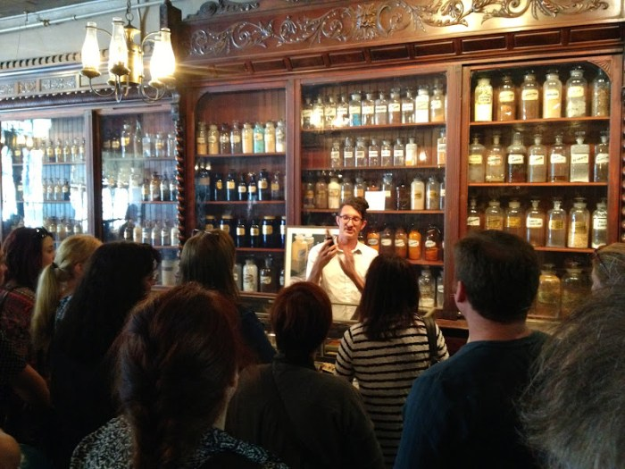 Our enthusiastic story teller at the Pharmacy Museum, New Orleans