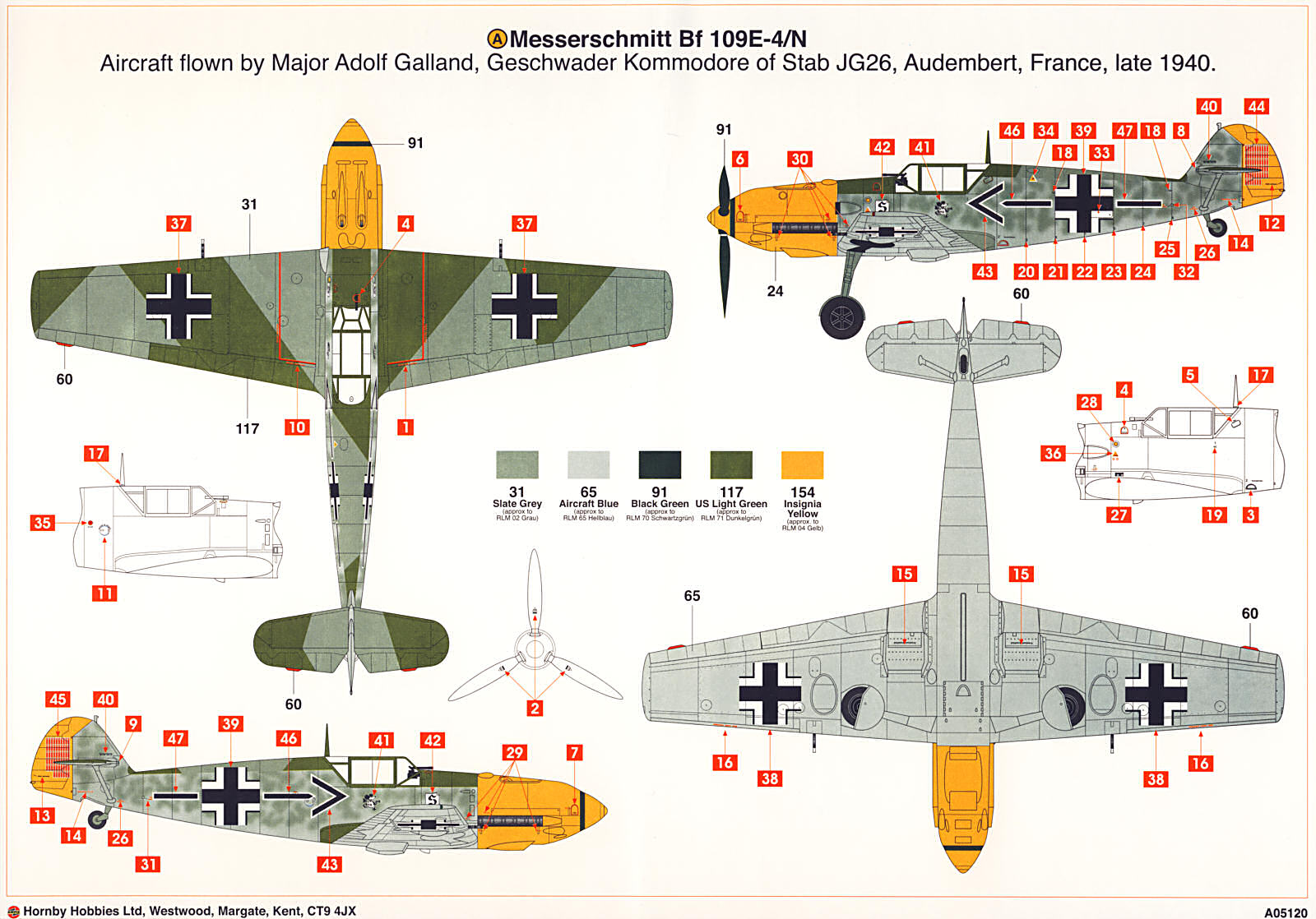 Me Bf 109 Paint Schemes