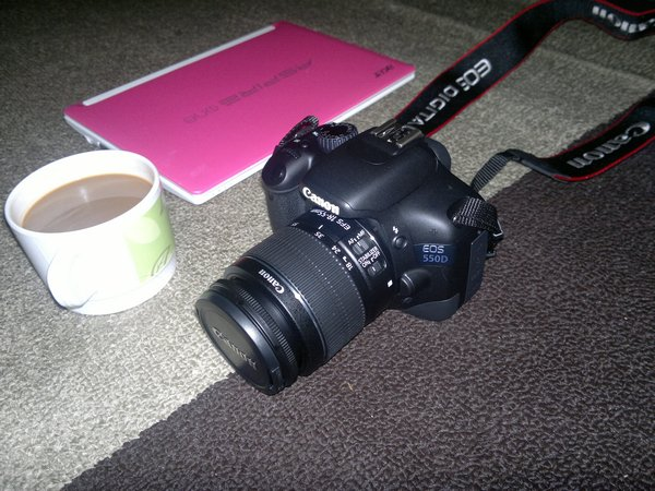 Netbook Si Pinky dan Kamera Canon EOS 550D