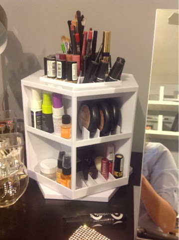Tabletop Spinning Cosmetic Organizer By Lori Greiner Home Design