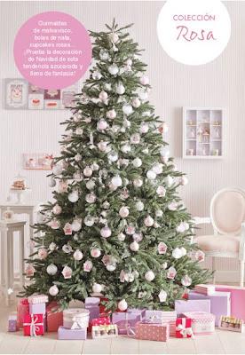Decorar la Navidad en rosa.