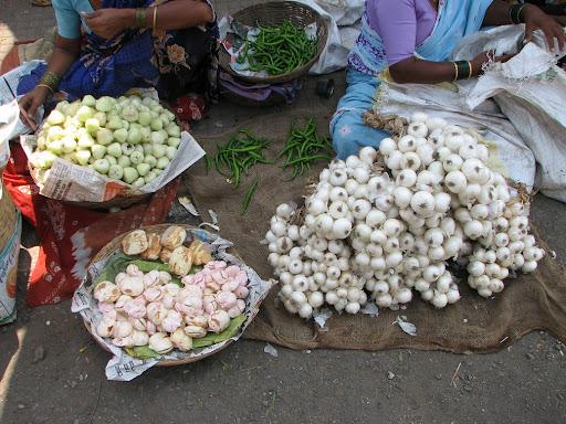 Vegetable market, Alibaug