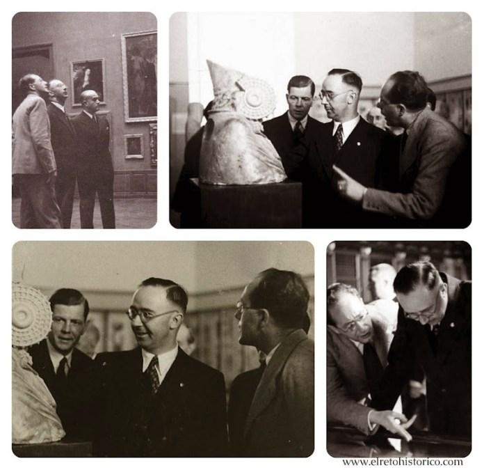 Himmler junto a Santaolaya visitando el Museo del Prado y el Museo Arqueológico