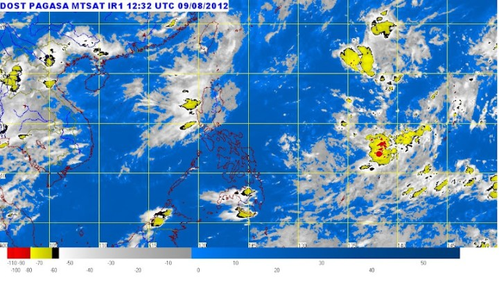 PAGASA Satellite Image  7:32 p.m., 09 August 2012