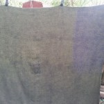 I decided to 'fix' a blanket I got from freecycle