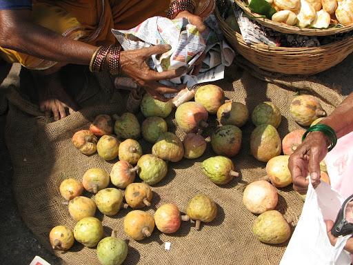 More fresh undried cashews at Alibaug market
