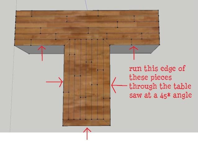 Using wood flooring material for countertops