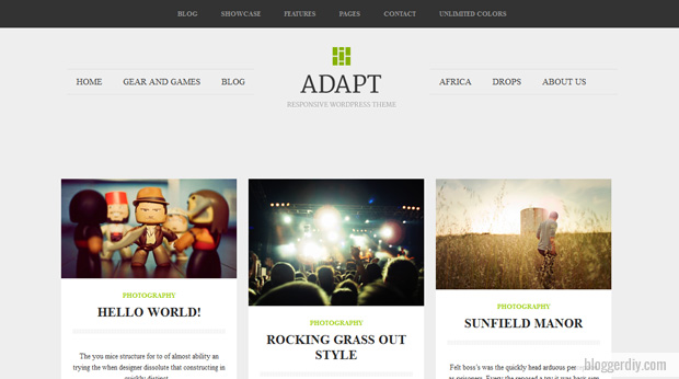 Adapt Blogger template