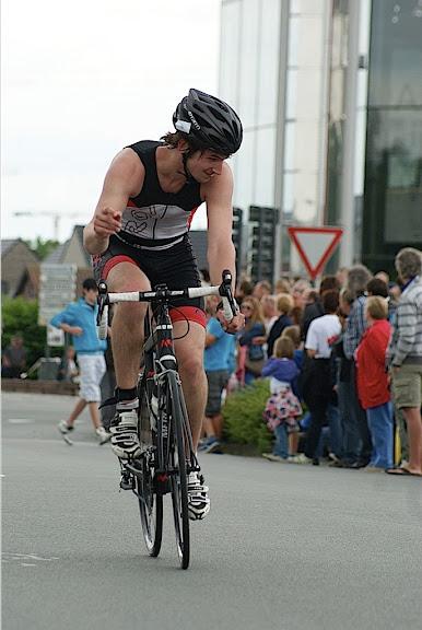fietsen van triathon