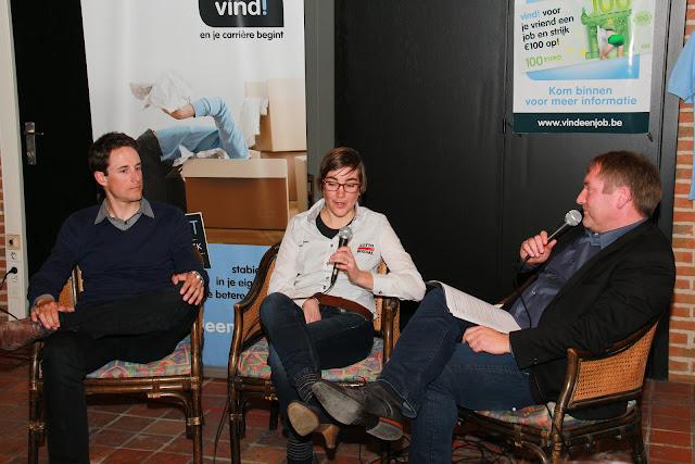 Kristof Vandewalle en Lieselot Decroix bij Jeroen Sap