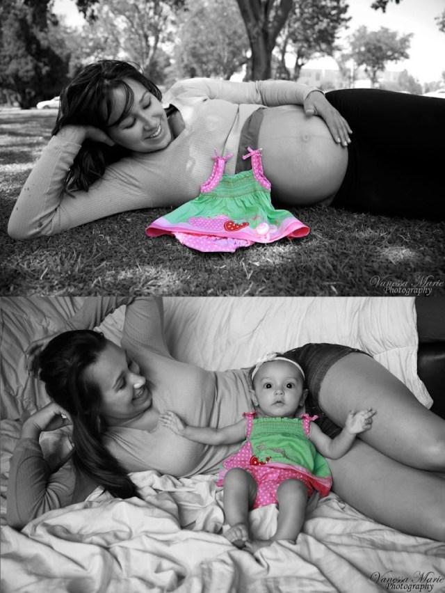 Fun Idea: 15 Adorable Before & After Maternity Photos