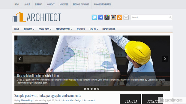 Architect Blogger template