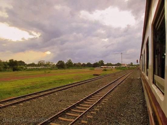 September 2013 - Leaving Nong Khai train station.