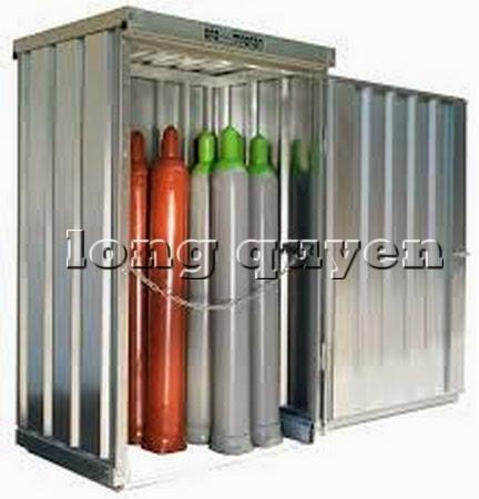 Tủ sắt để bình khí và lỏng ngoài trời C