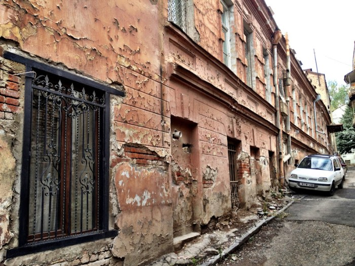 The peeling paint of old town Tbilisi